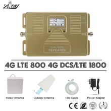 ATNJ 4G LTE 800 DCS 1800 Moible Phone Signal Repeater B20 B3 LCD Display Cellular Booster 70dB Gain Amplifier
