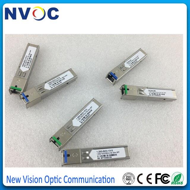 5Pcs/Lot,155M 1310/155nm,20KM,Single Mode Single Fiber,WDM,DDM,SFP Module,100BASE-FX,BiDI,SMF,SC SFP Transceiver