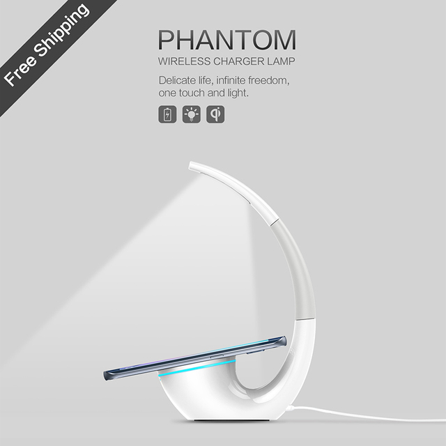 Nillkin QI Intelligent Wireless Charger Charging Mat Energy Saving Phantom wireless charger lamp for iPhone 6 7 for Samsung S6 7
