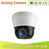 Free Shipping 100X ZOOM 1 3 Sony CCD 700TVL Mini IR High Speed Dome PTZ 3
