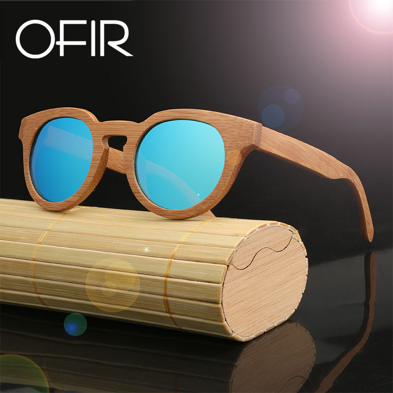 OFIR Ms Sunglasses font b Fashion b font Women Brand Designer 2018 Bamboo Wood Retro font