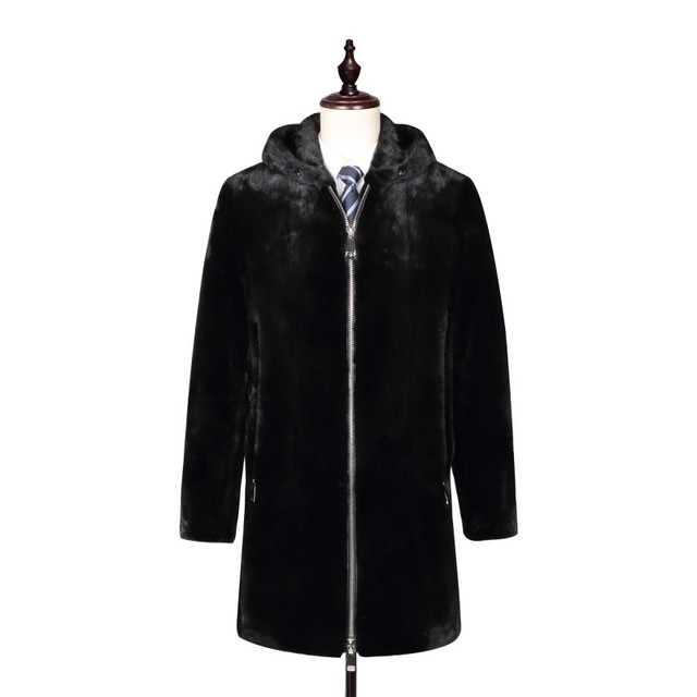 British london Business Style Luxury Whole pelt real Mink fur long trench coats , Superb manly genuine mink fur Garment