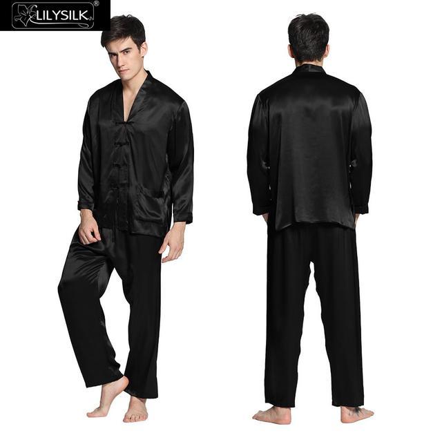 Lilysilk Pyjamas Men's Sleepwear Sexy Couples Pajamas Silk 22 Momme Home Wear Chinese Style Brand Winter Clothing Long Sleeve