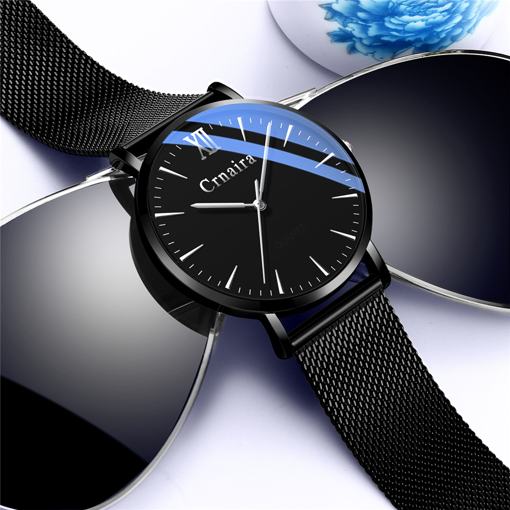 Relogio Masculino Mens Watches Top Brand Luxury Ultra-thin Wrist Watch Men Casual Simple Steel Mesh Clock Male Erkek Kol Saati