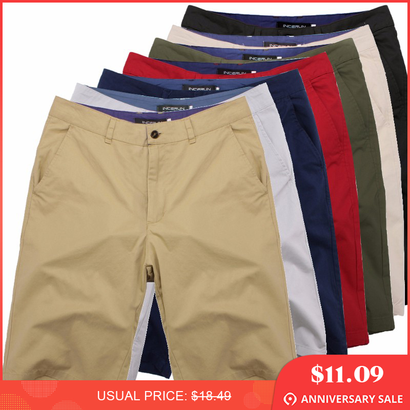High Quality Summer Smart Casual Shorts Men Cotton Streetwear Fashion Plain Business Formal chinos Shorts Plus Size 44 Bermuda
