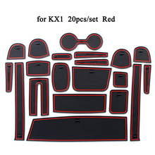 Car Interior Accessories Door Pad Rubber Dust-proof Gate Slot Mat Cup Holder Non-slip Mat Cushion Decoration for KIA KX1