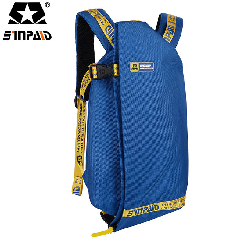 Sinpaid Folding School Bag Teenager Oxford Fashion Waterproof Female Backpack Blue/Black/Red Travel Bag For Men Women 2017-FF 2017 fashion women waterproof oxford backpack famous designers brand shoulder bag leisure backpack for teenager girl and college