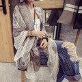 Europeu Estilo Europeu moda gigante sombra de seda do lenço do crânio impressão coringa lenços de seda longos, agradável mulheres cachecol