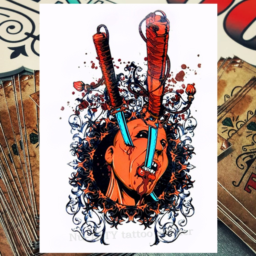 Nu Taty Samurai Warrior Temporary Tattoo Body Art Flash Tattoo