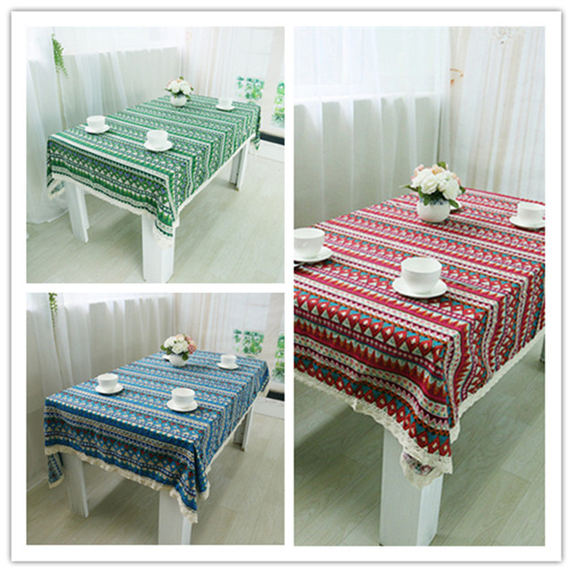Free Shipping National Wind Tablecloths Cotton Linen Nice Quality For  Hotel/Party/Hotel/