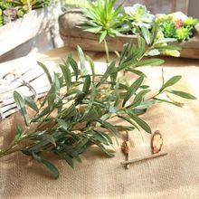 Green Artificial Olive Branch Simulation Plant Leaf Home Wedding Decoration Fake Flowers SF47189