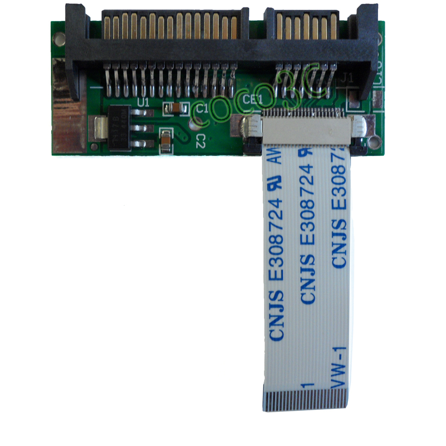 Gratis verzending 24pin 1.8 LIF SSD naar 22pin 2.5 SATA 3.0 converter kaart THNSNC128GMLJ THNS128GG4BMAA HS12UHE adapter met kabel
