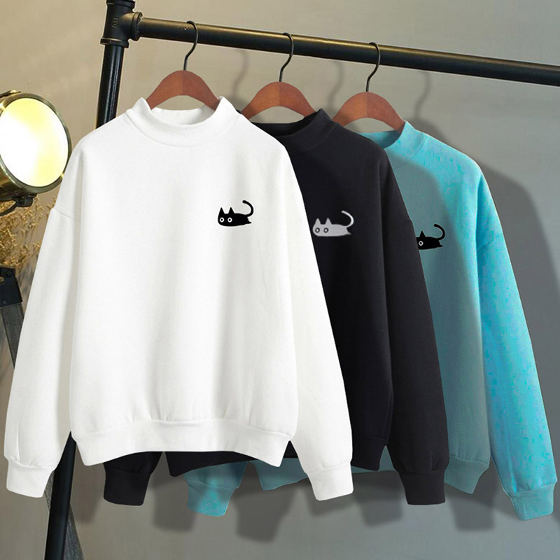 525e85d76 Aliexpress.com   Buy 2018 Autumn Casual Harajuku Kawaii Black Cat ...