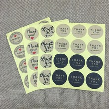 38mm Wholesale (600pcs/lot) Seal Label Sticker Thank You Sticker For Party Favor Gift Bag Candy Box Decor(China)