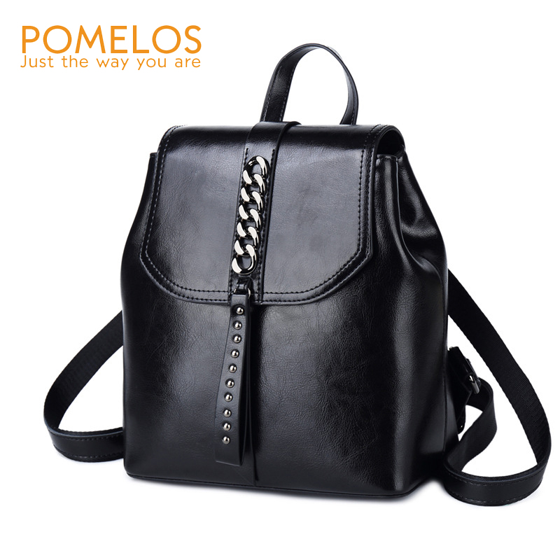 POMELOS Women Backpack Genuine Leather High Quality Fashion Backpack Women Designer Small Backpack For Urban Girls Travel School
