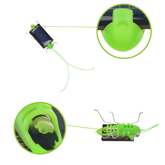 2018 Solar grasshopper Educational Solar Powered Grasshopper Robot Toy    required Gadget Gift solar toys No batteries for kids 6
