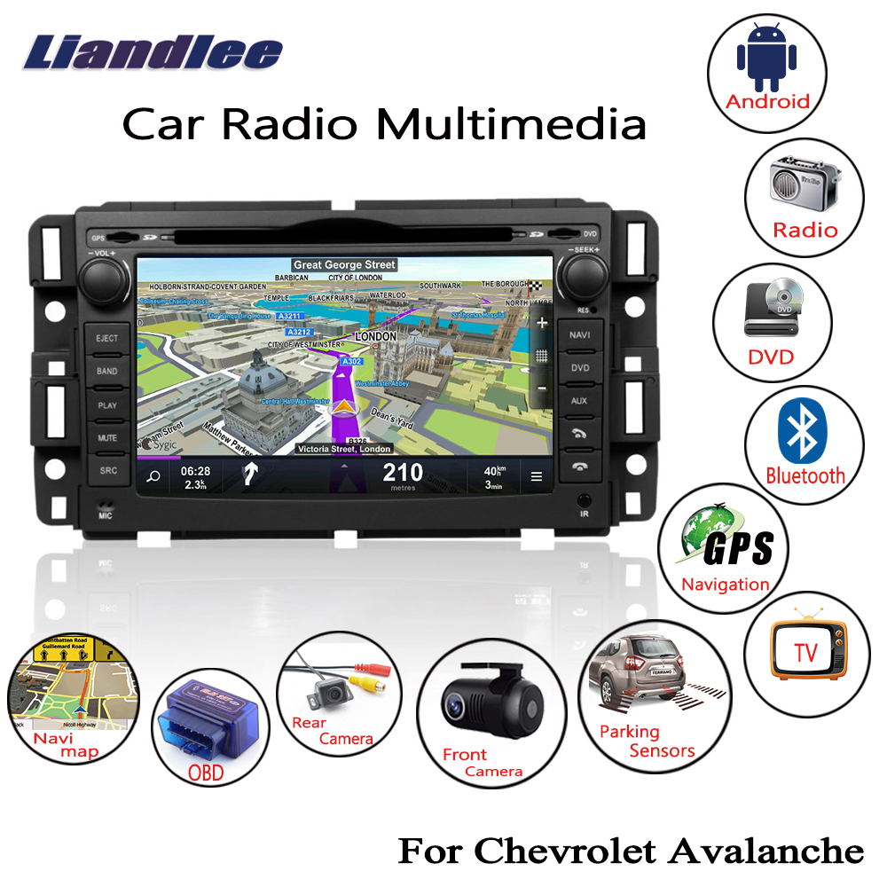 Liandlee For Chevrolet Avalanche 2007~2014 Android Car Radio CD DVD Player GPS Navi Navigation Maps Camera OBD TV Screen