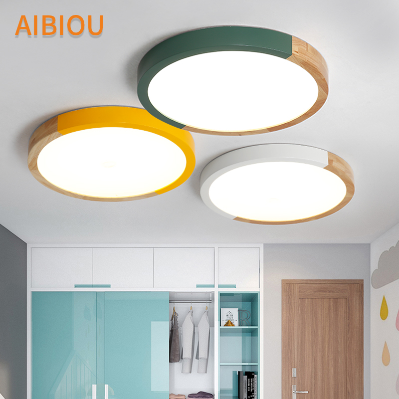 AIBIOU New Arrival Ceiling Lights For Living Room Round Surface Mounted Metal Frame Ceiling Lighting Fixtures Bedroom Luminaire