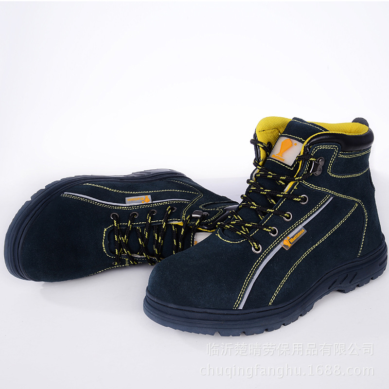 Cow suede steel toe shoes shoes high temperature safety boots protective boots