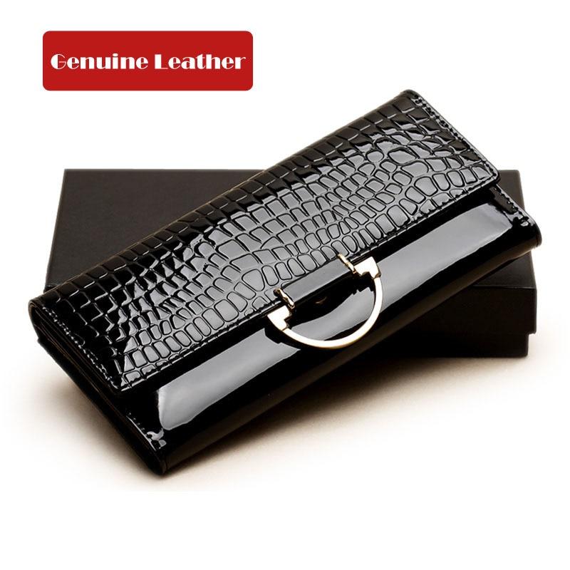 European Women Wallets Genuine Leather Wallet Women Femous Brand Desginer Female Purses Purse