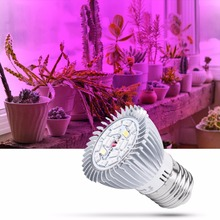 E27 Full Spectrum UV LED Lamp 28W Grow Bulb Plant Light 18W E14 Indoor 220V Flower Seeds 110V