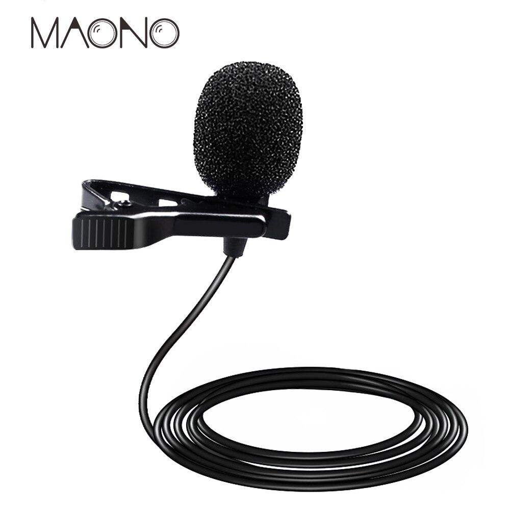MAONO Lavalier Mini Professional Condenser Microphone Handsfree Clip On Recording Lapel Mic For DSLR Voice Amplifier Smart Phone