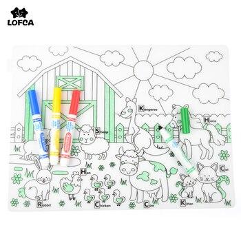 LOFCA 1 unid impermeable vajilla de silicona vajilla niños lavable ...