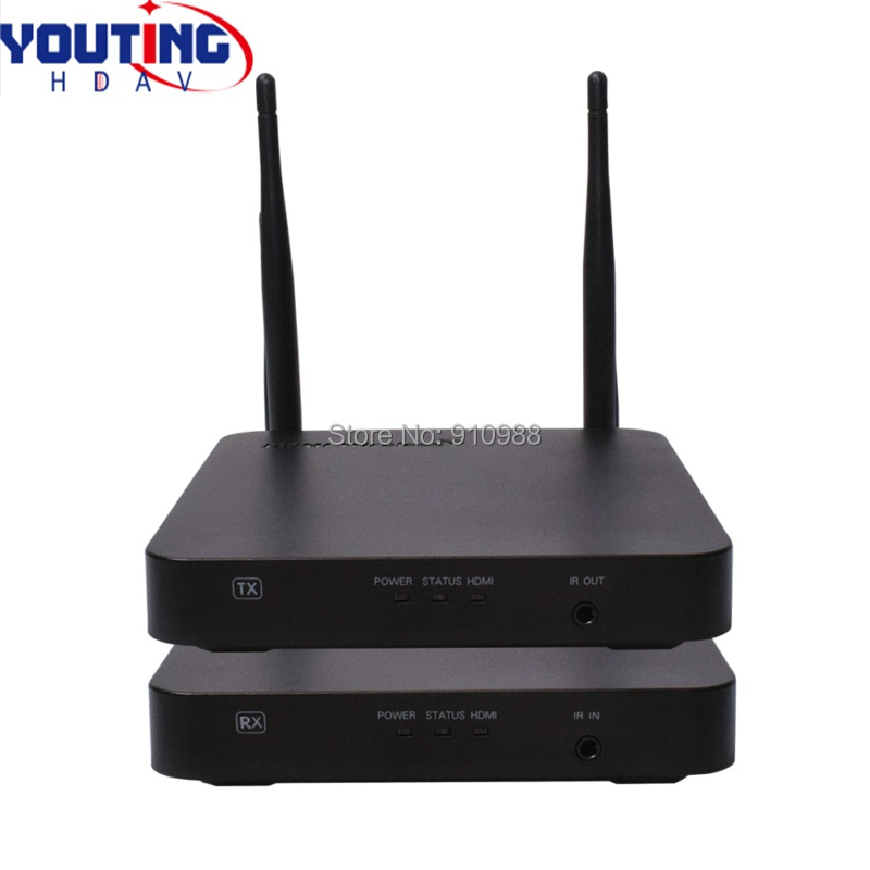 YOUTINGHDAV YT-HDCN100M1 HDMI Wireless Extender 100m WIFI audio and video transmitter 2.4/5G 1080P IR 80 channels hdmi to dvb t modulator hdmi extender over coaxial