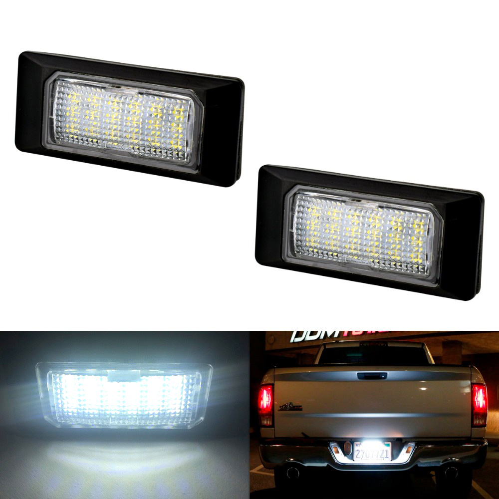 2pcs LED Number License Plate Light 12V For Volkswagen VW GOLF PASSAT POLO SHARAN TOURAN Car Tuning Accessories