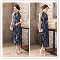Shanghai Story Womens Satin Halter Cheongsam Sexy Long Qipao Backless Costume Dress Size S---XXXL Chinese Traditional Dress