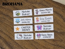128 Custom Name Tags,  Organic Cotton Labels,iron on, Custom Clothing Labels, Small train, 37.5x12.5mm(L140)