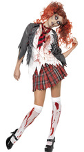 School girl ghost cospaly Halloween costume for font b women b font Scarey font b Cosplay