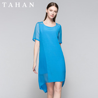TAHAN/Taihe удобное Элегантное Шелковое летнее платье