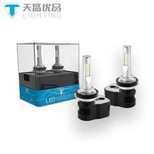 TINSIN освещения новейший продукт Turbine5 H8 H9 H11 светодиодные фары conversion kit 60 Вт 8400lm яркие светодиодные фары лампочки для автомобиля