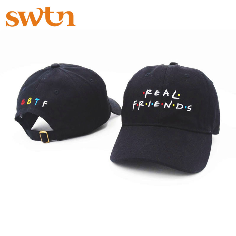 SWTN New Real Friend Embroidery Baseball Caps Women Winter Hat for Men Dad adjustable Snapback Cap hip hop casquette new fashion pink panther baseball cap snapback hat cap for men women dad hat hip hop hat bone adjustable casquette