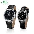 Часы Eastar для пар  наручные часы с кожаным ремешком  модные кварцевые часы для девушек  роскошные Брендовые Часы с циферблатом 39 мм и цифербла...