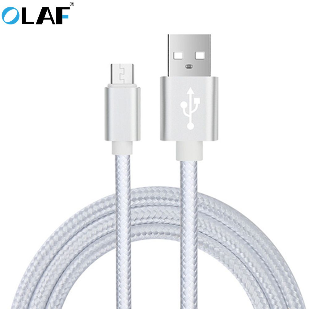 Olaf Nylon Micro USB Cable for Samsung HTC Huawei Xiaomi Android 3m 2m Fast Charge wire Microusb Mini USB Mobile Phone Cables