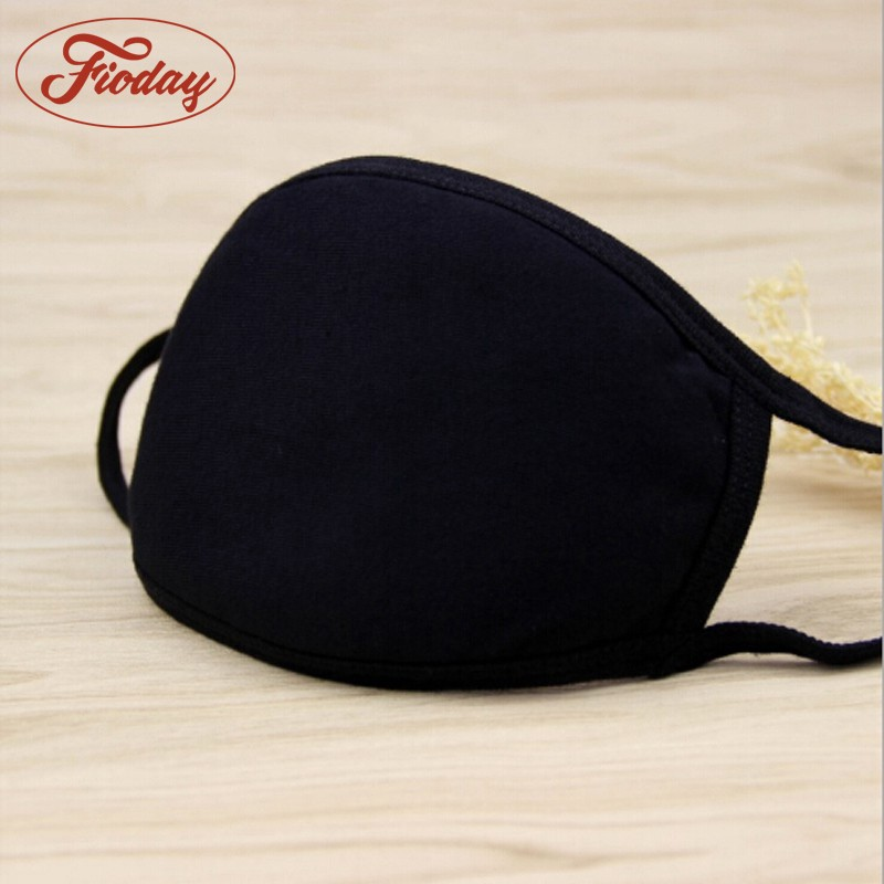 Fioday Unisex Prints Mouth Mask Cotton Breath Anti-dust Activated Carbon Filter Adult Fabric Breathing Anti-fog Health Care