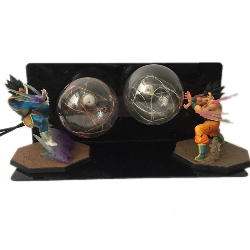 Аниме Dragon Ball Z фигурки, светодиодный Игрушка ночник Сон Гоку против Вегета, бои с эффектом бомбы, фигурка, Подарочные игрушки