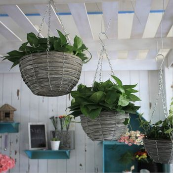 Nordic pastoral creative Home Furnishing jewelry willow Chlorophytum small pots Scindapsus aureus exports storage basket Zakka