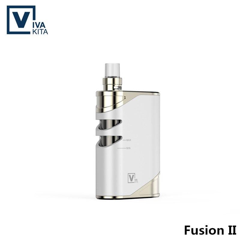 50W Vape Kit 2100mAh Fusion 2 tout en un vaporisateur 2.0ml intégré batterie électronique boîte à cigarettes mod 0.25ohm intégré atomiseur