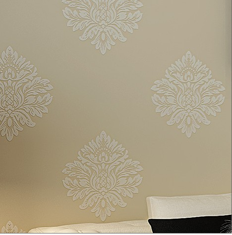 Contracted Europe type sitting room background wall stickers The bedroom full shop Environmental protection non-woven wallpaper 10m 53cm contracted non woven wallpaper warm sitting room the bedroom tv setting wall stickers waterproof abstract lotus flowers