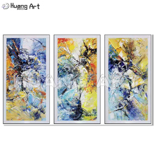 Professional Painter Hand Painted Acrylic Canvas Painting for Room Decor Modern Abstract Knife Texture Wall Art Oil
