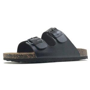 Image 2 - 新 2019 夏のスタイルの靴女性サンダルコルクサンダルトップ品質バックルカジュアルスリッパフリップフロッププラスサイズ 6  11 無料 S
