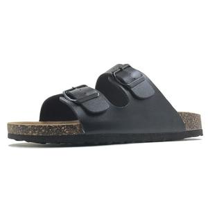 Image 2 - Tongs 2019, chaussures Style été pantoufles décontractées pour femme, sandales en liège, boucle de qualité supérieure, grande taille, 6 à 11 S gratuites, nouveauté
