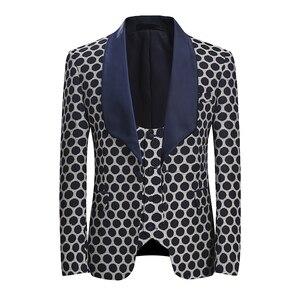 Image 2 - YUNCLOS ab boyutu yeni 3 adet dokuma erkek takım elbise klasik Polka iş elbisesi Tuexdos düğün parti elbise rahat ince takım elbise tuexdos