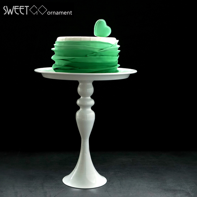 White Cake Stand High Feet Metal Iron 8 Inch Cake Tool For Cake Decoration For Wedding