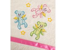 Полотенце детское SANTALINO, МИШКИ, 50*90 см, розовая сумка