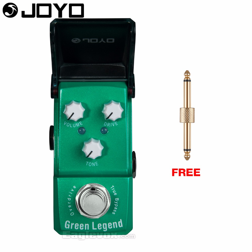 Joyo Ironman JF-319 Green Legend Overdrive Guitar Effect Pedal True Bypass with Free Connector joyo ironman jf 326 irontune tuner guitar effect pedal true bypass jf 326
