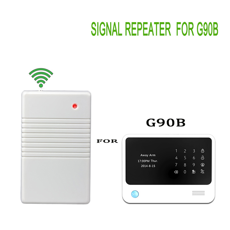 433mhz Wireless Enhance signal repeater Stronger signal for G90B Home Security Burglar alarm system 433mhz wireless signal transmitter repeater for focus alarm security system